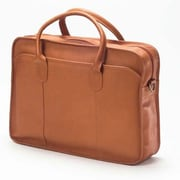 Clava Leather Colored Vachetta Classic Top Handle Leather Laptop Briefcase; Tan