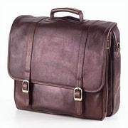 Clava Leather Tuscan Executive Laptop Briefcase; Caf