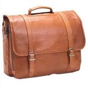 Clava Leather Tuscan Executive Laptop Briefcase; Tan