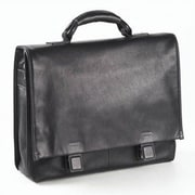 Clava Leather Tuscan Leather Briefcase; Black