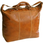 Floto Imports Piana 17'' Leather Travel Duffel; Olive Brown