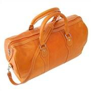Floto Imports Milano 20'' Leather Travel Duffel; Orange