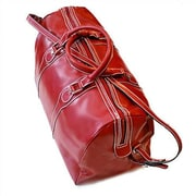 Floto Imports Milano 20'' Leather Travel Duffel; Tuscan Red