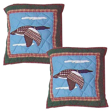 Patch Magic Loon Cotton Throw Pillow (Set of 2)