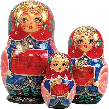 G Debrekht Russia 3 Piece Think of You Nested Doll Set