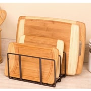 Seville Classics Kitchen Cabinet and Counter Top Cutting Board Organizer