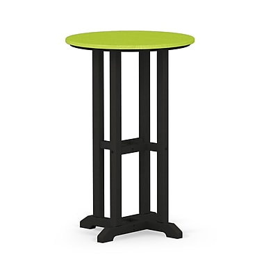 POLYWOOD Contempo Dining Table; Black / Lime