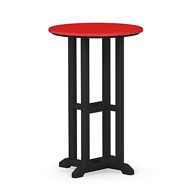 POLYWOOD Contempo Dining Table; Black / Sunset Red