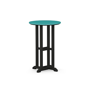 POLYWOOD Contempo Dining Table; Black / Aruba