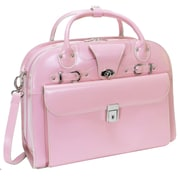 McKlein USA W Series Roseville ' Laptop Leather Catalog Case; Pink