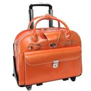 McKlein USA W Series Roseville ' Laptop Leather Catalog Case; Orange