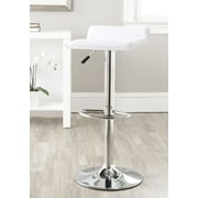 Safavieh Sheba Adjustable Height Swivel Bar Stool with Cushion; White