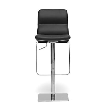 Wholesale Interiors Baxton Studio Adjustable Height Swivel Bar Stool with Cushion; Black