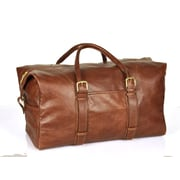 Aston Leather 20'' Leather Weekender Carry-On Duffel; Brown