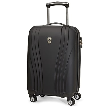 Atlantic Luggage Lumina 20'' Hardsided Spinner Suitcase; Black