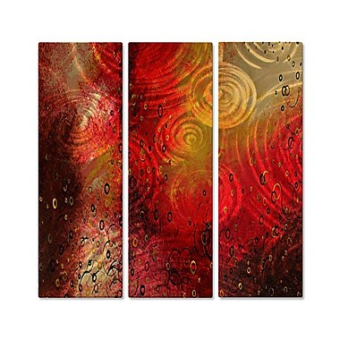 All My Walls 'Fulfillment' by Megan Duncanson 3 Piece Graphic Art Plaque Set