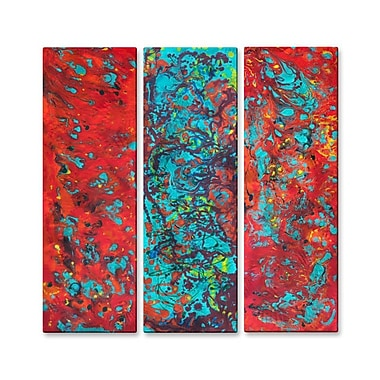 All My Walls 'Tropical Haze 2' by Hilary Winfield 3 Piece Graphic Art Plaque Set