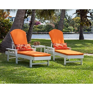 POLYWOOD South Beach 3 Piece Chaise Lounge Seating Group