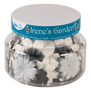 Alvin and Co. Irene's Garden O Blooms Flower Jar (Set of 60); Black and White