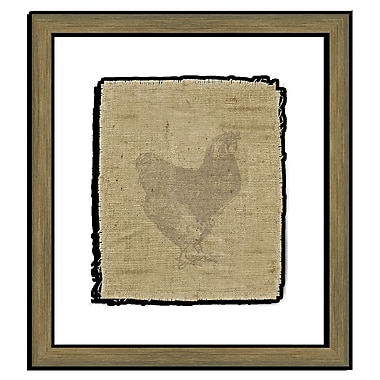 Melissa Van Hise Rooster I Framed Graphic Art; Taupe