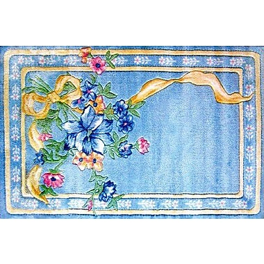 Fun Rugs Supreme Flower Ribbon Blue Area Rug; 3'3'' x 4'10''