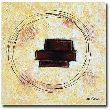 White Walls Wooden Blocks Framed Painting Print on Wrapped Canvas