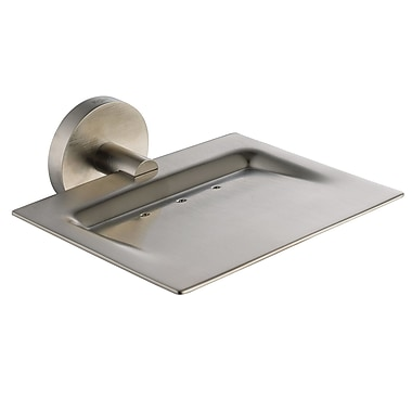 Kraus Imperium Wall Mount Soap Dish; Brushed Nickel