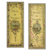 Stupell Industries Oversized Olives and Herbes de Provence Kitchen Wall Plaque Set (Set of 2)