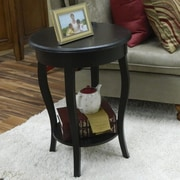 Carolina Cottage Christine Side Table; Antique Black