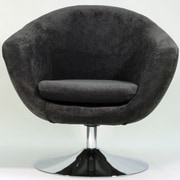 Fox Hill Trading Overman Disc Base Comet Chair; Dark Gray