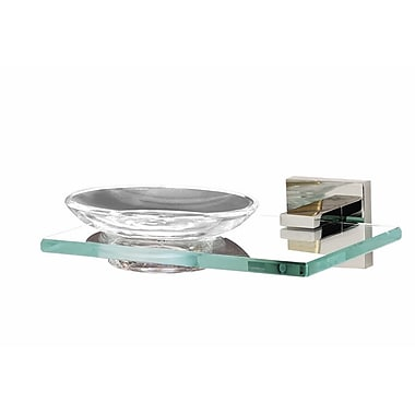Alno Contemporary II Soap Dish; Polished Chrome
