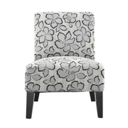 DHI Monaco Hibiscus Slipper Chair; Pewter