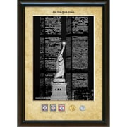 American Coin Treasure New York Times Liberty and the World Trade Center Wall Framed Memorabilia