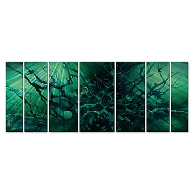 All My Walls 'Ocean Depth' by Michael Lang 7 Piece Graphic Art Plaque Set