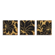 Stupell Industries Floral Print 3 pc Wrapped Canvas Wall Art Set