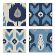 Stupell Industries Alternating Ikat Design 4 pc Wrapped Canvas Wall Art Set