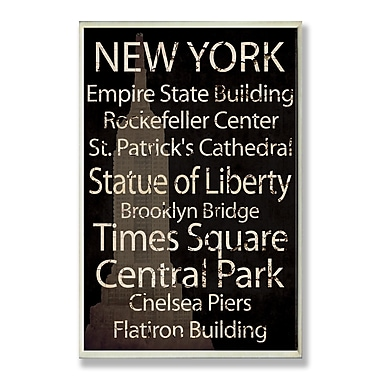 Stupell Industries New York City Textual Art Wall Plaque
