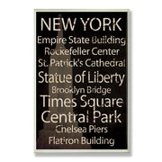 Stupell Industries New York City Typography Rectangle Wall Plaque