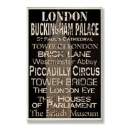 Stupell Industries London Typography Rectangle Wall Plaque