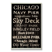 Stupell Industries Chicago Typography Rectangle Wall Plaque