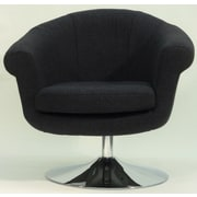 Fox Hill Trading Overman Disc Base Lounge Chair; Black