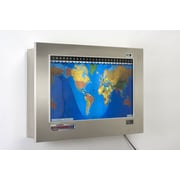 Geochron Geochron Original Kilburg World Wall Clock; Brushed Stainless Steel, Silver Trim