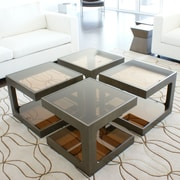 Pangea Home Miley End Table; Espresso