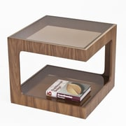 Pangea Home Miley End Table; Walnut