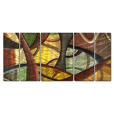 All My Walls 'Structures of Wow' by Jerry Clovis 5 Piece Graphic Art Plaque Set