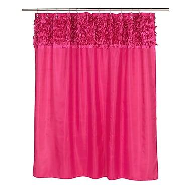 Carnation Home Fashions Jasmine Shower Curtain; Raspberry