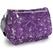 J World Terry Campus Messenger Bag; Purple