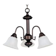 Maxim Lighting Malaga 3-Light Chandelier; Oil Rubbed Bronze with Marble Shade