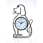 Maples Clock Silhouette Dog Table Clock