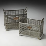 Butler Hors D'oeuvres 2 Piece Rowley Iron Storage Basket Set